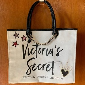 Victoria's Secret GLITTER & Chain Big Tote Bag!